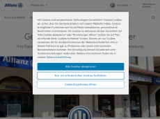 Screenshot der Domain allianz-ernst-huber.de