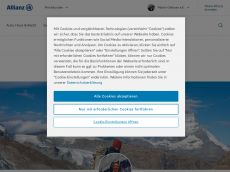 Screenshot der Domain allianz-gelissen.de