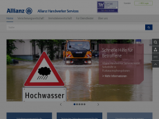 Screenshot der Domain allianz-handwerker.de