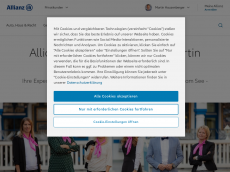 Screenshot der Domain allianz-hauzenberger.de