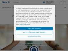 Screenshot der Domain allianz-heger-dickmaenken.de