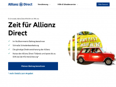 Screenshot der Domain allianz-kfz.de
