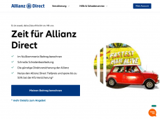 Screenshot der Domain allianz-kfzversicherung.de