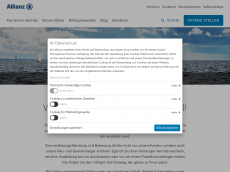 Screenshot der Domain allianz-kiel.de