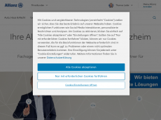 Screenshot der Domain allianz-leder.de