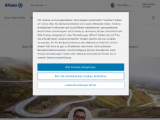 Screenshot der Domain allianz-milka.de