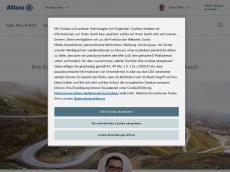 Screenshot von allianz-milka.de