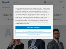 Screenshot der Domain allianz-miller.de