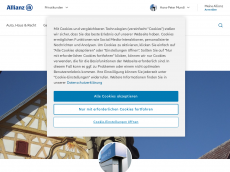 Screenshot der Domain allianz-mundi.de