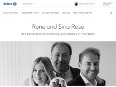 Screenshot der Domain allianz-rose.de