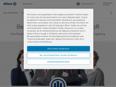 Screenshot der Domain allianz-schuster.de