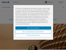 Screenshot von allianz-tuescher.de