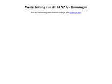 Screenshot der Domain allianza.de
