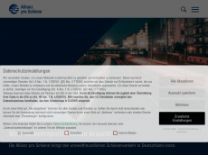 Screenshot der Domain allianzproschiene.de