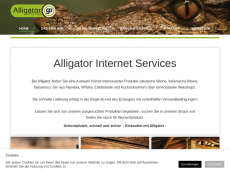 Screenshot der Domain alligator-webshop.de