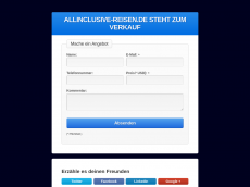 Screenshot der Domain allinclusive-reisen.de