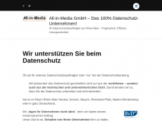 Screenshot der Domain allinmedia.com