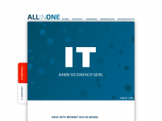 Screenshot der Domain allinone.de