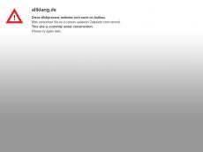 Screenshot der Domain allklang.de