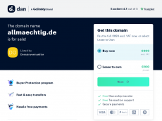 Screenshot der Domain allmaechtig.de