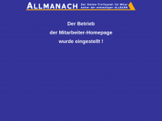 Screenshot der Domain allmanach.de