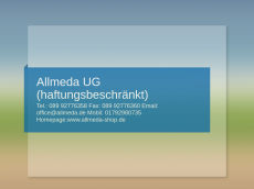 Screenshot der Domain allmeda.de