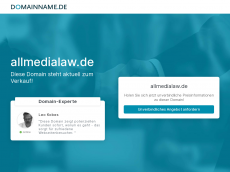 Screenshot der Domain allmedialaw.de