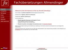 Screenshot der Domain allmend-ru.de