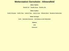 Screenshot der Domain allmendfeld-wetter.de