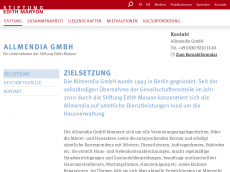Screenshot der Domain allmendia.com