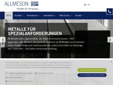 Screenshot der Domain allmeson.de