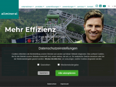 Screenshot der Domain allmineral.de