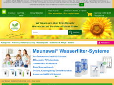Screenshot der Domain allnaturel.de