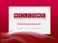 Screenshot der Domain allnicethingscompany.de