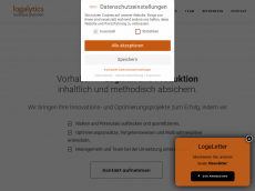 Screenshot der Domain allogistics.de