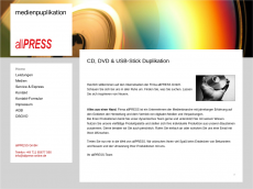 Screenshot der Domain allpress-online.de