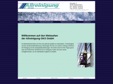 Screenshot der Domain allreinigung.com
