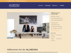 Screenshot der Domain allrevisa.de