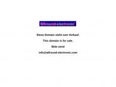 Screenshot der Domain allround-electronic.com