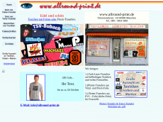 Screenshot der Domain allround-print.de