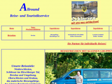 Screenshot der Domain allround-reisebuero.de