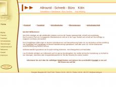 Screenshot der Domain allround-schreibbuero.de