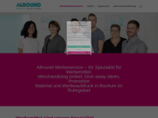 Screenshot der Domain allround-werbeservice.de