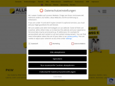 Screenshot der Domain allround.de