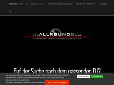 Screenshot der Domain allrounddj.de