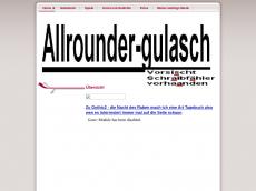 Screenshot der Domain allrounder-gulasch.de