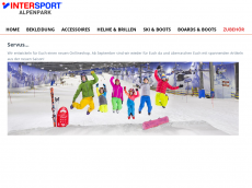 Screenshot der Domain allrounder-sportshop.de