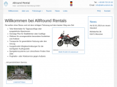 Screenshot der Domain allroundrental.de