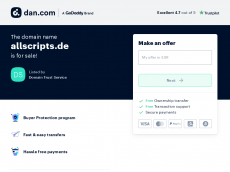 Screenshot der Domain allscripts.de
