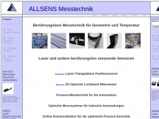 Screenshot von allsens-messtechnik.de